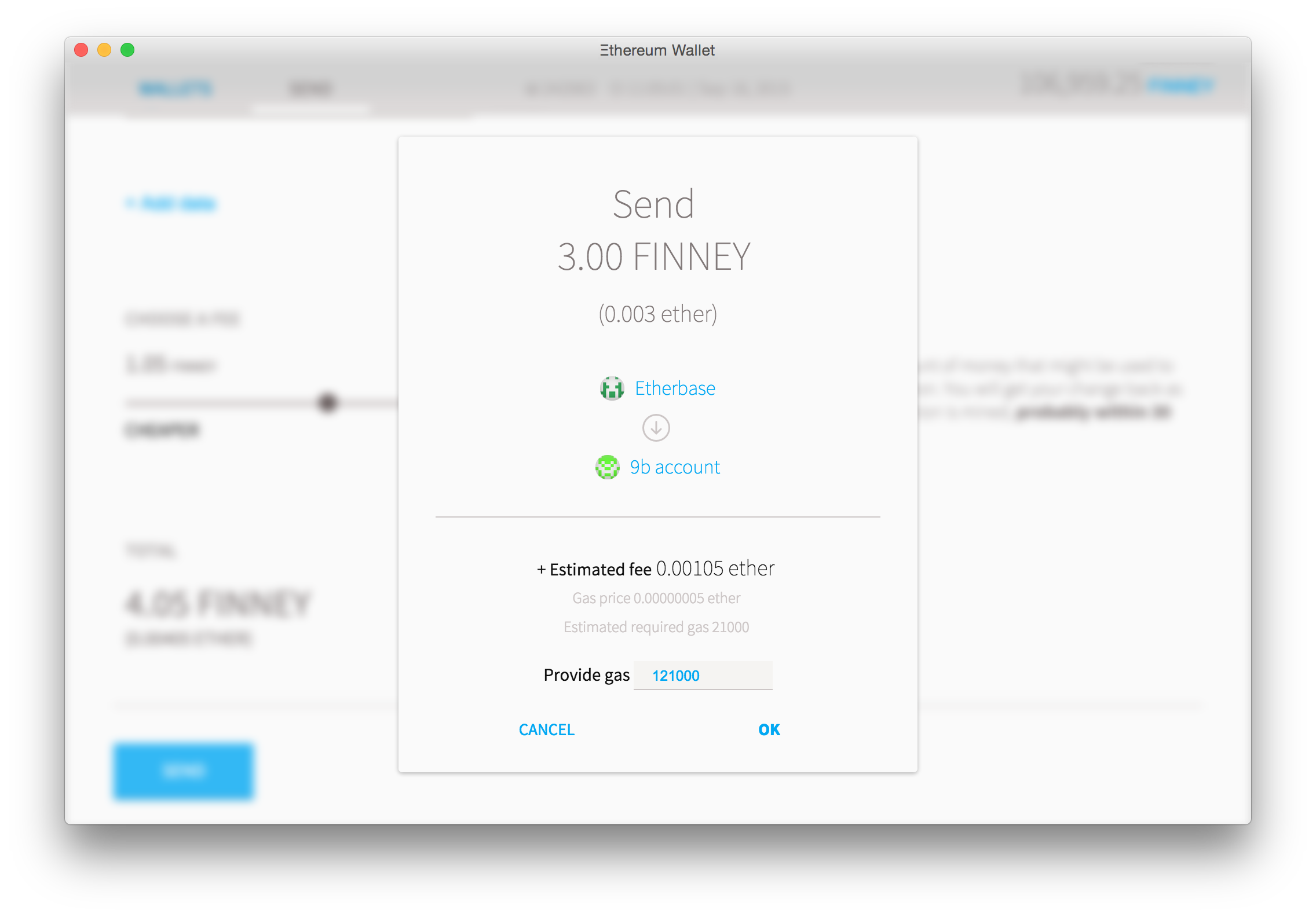 Wallet - sending a transaction